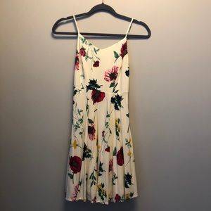 Flower fit and flare dress